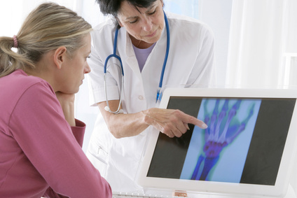 rheumatologist consulting a patient