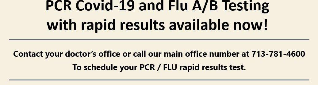 Rapid result PCR / FLU Test